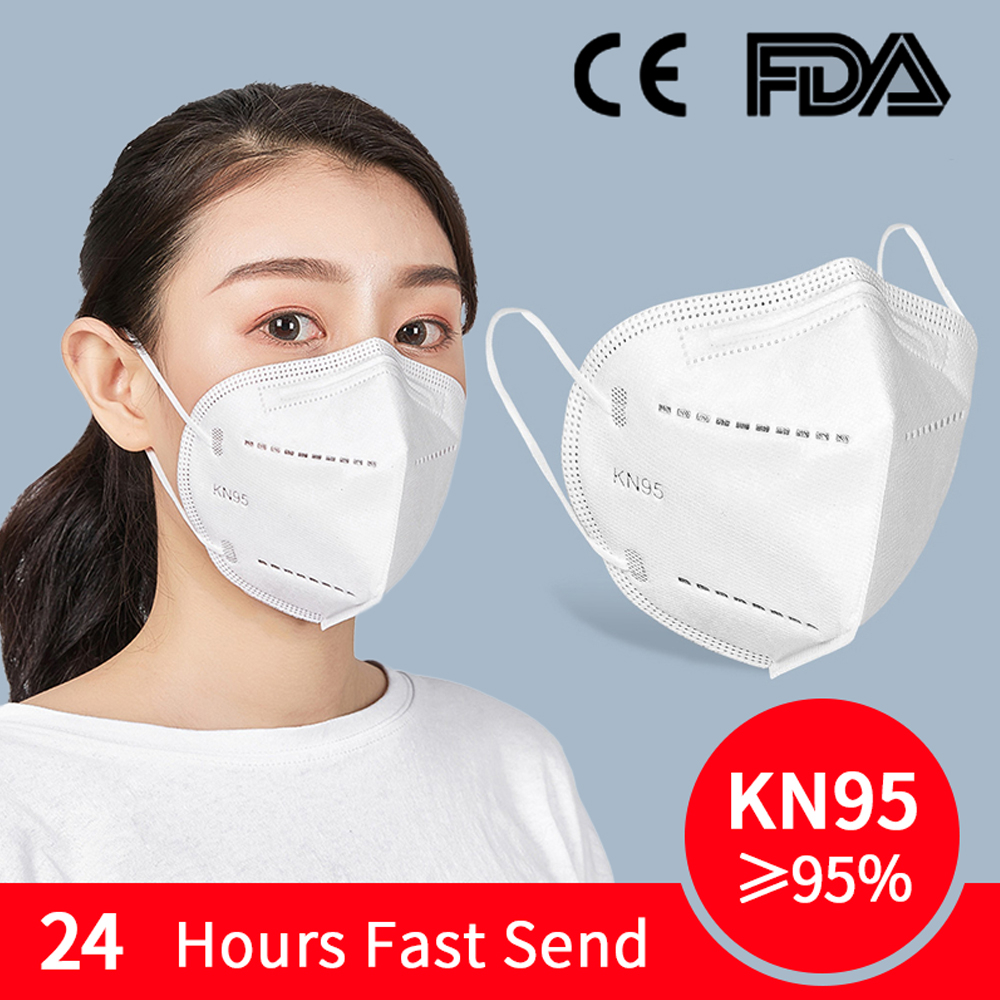 KN95 Mask Anti Virus Disposable Protective Mask with KN95 Level 95% Bacterial Filtration Mouth Face Cover Dust Masks